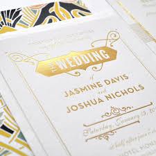 foil wedding invitations gold foil wedding invitation gatsby wedding invitation