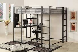 Modern Bunk Bed With Desk Size Metal Loft Bed Desk Special Size Metal Loft Bed