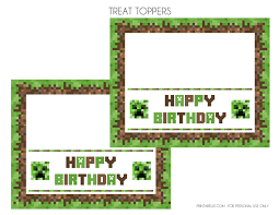 free minecraft printables catch party