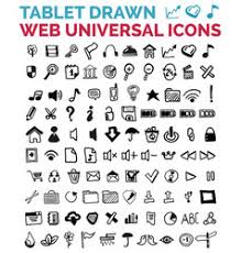 sketch social media icons royalty free vector image