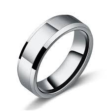 men ring sliver color tungsten steel men ring