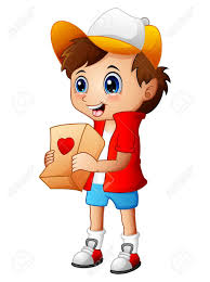 gift packages boy giving gift packages stock photo picture and royalty