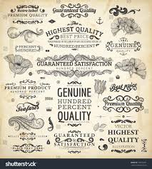 vector collection calligraphic vintage design elements stock