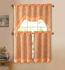 Geometric Orange Curtains Orange Check Kitchen Curtains Orange Kitchen Curtains Kitchen