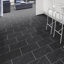 Granite Effect Laminate Flooring Luvanto Glue Down Stone Effect Polished Black Slate Deep Emboss