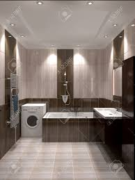 3d render modern interior of bathroom stock photo picture and