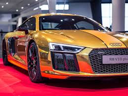 gold cars gold audi r8 v10 photos business insider