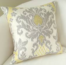 Yellow And Gray Decorative Throw Pillow Sofa Pillow Cover Ivory