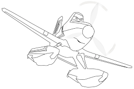 dusty firefighter disney airplane coloring printable