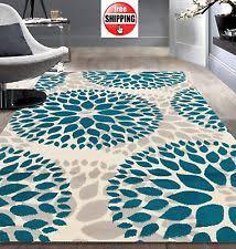 8x11 blue beige navy grey aqua teal modern floral diamond area rug