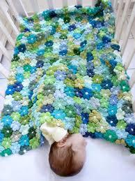 Free Pattern For Crochet Flower - crochet puff flower blanket free pattern the whoot