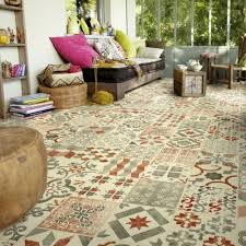 funky lino patterned vinyl flooring trendy and retro designs