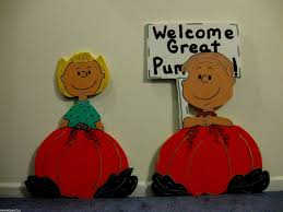 4pc great pumpkin peanuts halloween yard art decoration