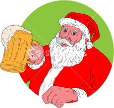 coloring amusing smiling santa claus graphicstock drawing