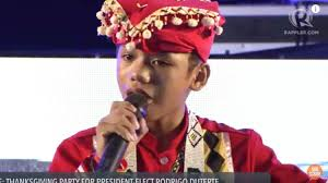 kids thanksgiving song watch u0027voice kids u0027 finalist reynan dal anay performs at duterte