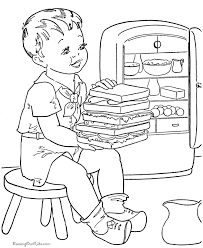 food coloring pages kids coloring