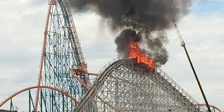 How Much Is It To Get Into Six Flags Magic Mountain Fire Burns Colossus Roller Coaster Huffpost