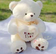 big large i you white teddy soft buy plush