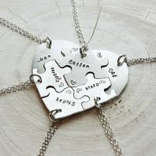 heart puzzle necklace images Shop family puzzle piece necklace on wanelo jpg