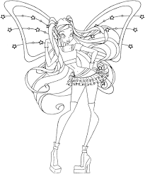 elvenpath coloring pages winx