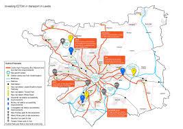 Leeds England Map by Leeds Transport Conversation