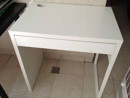 Small White Desk Ikea Home Design Decorating Lovely Ikea Micke Desk For Study Or