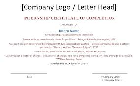 11 free sample internship certificate templates u2013 printable samples