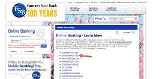 farmers state bank online banking login cc bank