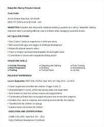 Babysitter Resume Template Sample Resume For Babysitter U2013 Topshoppingnetwork Com