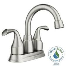 Pfister Parisa Bathroom Faucet Spot Resist Brushed Nickel Two Handle Low Arc Bathroom Faucet