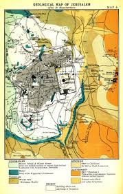 Jerusalem World Map by George Adam Smith 1848 1910 Jerusalem The Topography