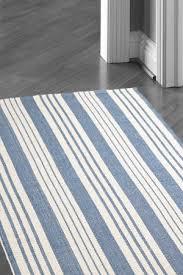 White Cotton Rug Striped Cotton Rug Harbor Grey Stripe Cotton Rug Jo Ellen Designs