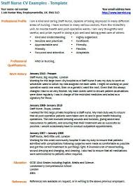 Best Resume For Nurses by Staff Nurse Cv Example Nursing Pinterest Nursing Cv And Cv