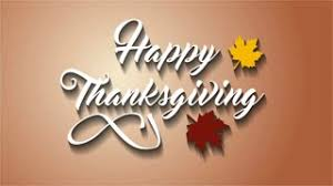 4k thanksgiving greeting card with happy thanksgiving lettering