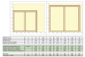 superficie minimum chambre la rt 2012 impose 17 de baies vitrées par rapport à la surface