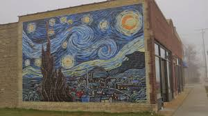 nomadic newfies starry night in kenosha remember my post about the starry night over st john s mural well kenosha has a starry night mural too it was painted in 2009 by eric houghton and
