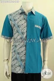 desain baju kekinian baju kemeja batik elegan desain kekinian untuk pria muda dan dewasa