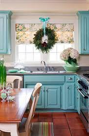 Cool Kitchen Cabinet Paint Color Ideas - Blue painted kitchen cabinets