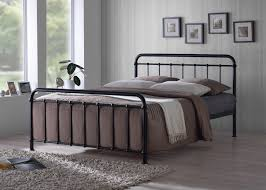 Metal King Size Bed Frame by Time Living Miami 5ft Kingsize Black Metal Bed Frame By Time Living