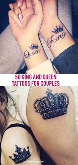 Tattoo Couple King And Queen | 50 king and queen tattoos for couples tatoo pinterest queen