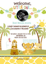 lion king baby shower invitations simba lion king shower ultrasound invitations baby shower custom
