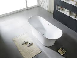 modern freestanding soaking bathtub aquamoon solaris white