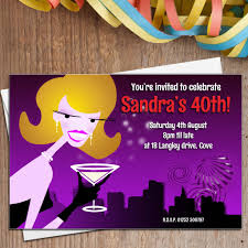 10 personalised cocktail birthday party invitations n5