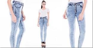 Light Blue High Waisted Jeans Acid Wash High Waisted Skinny Jeans