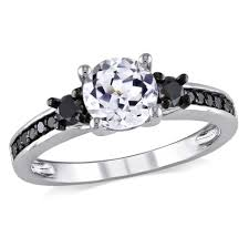 white and black diamond engagement rings amour black diamond and white sapphire engagement ring size 8