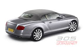 bentley continental gtc rental miami
