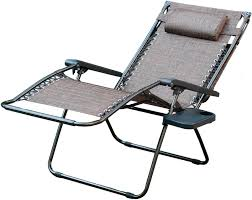 Oversized Zero Gravity Lounge Chair Oversized Zero Gravity Chair With Sunshade And Drink Tray In Brown