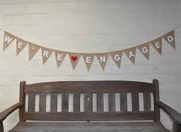 Engagement Party Pinterest by We U0027re Engaged Hessian Burlap Wedding Celebration Engagement Party
