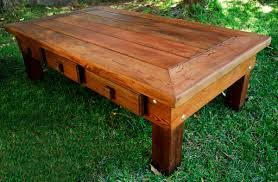 Redwood Coffee Table Oversized Coffee Table Large Solid Redwood Table