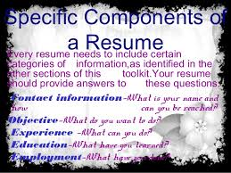 a resume should include what is resume purpose and objective of resume and type of resume